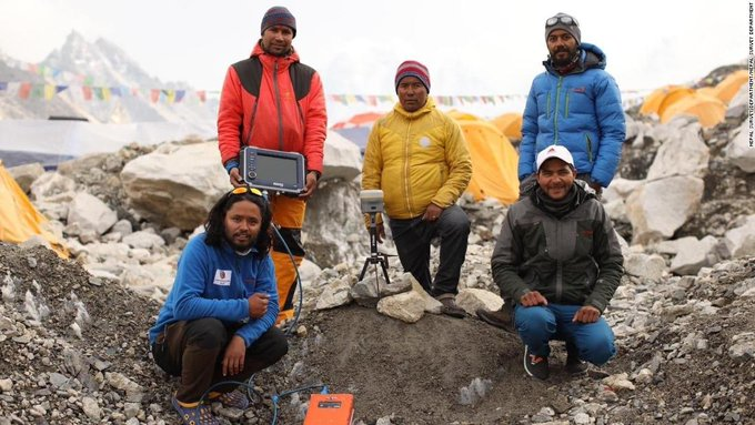 Nepal, China Announces New Height of Mt Everest at 8,848.86M