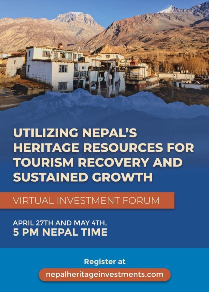 Nepal Tourism Board, The International Finance Corporation: IFC, and Solimar International Present the Nepal Heritage Tourism Virtual Investment Forum